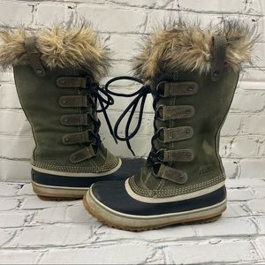 Sorel Joan of Arctic boot army green